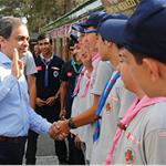 İBB Genel Sekreteri Hayri Baraçlı Yaz İzci Kampını ziyaret etti